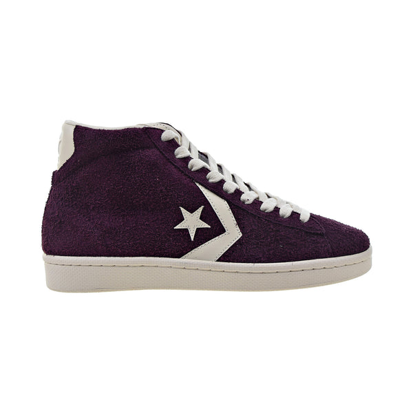 Converse Pro Leather Mid Men's Shoes Suede Dark Sangria-Egret