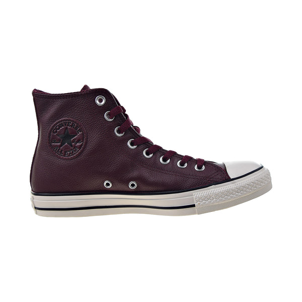 Converse Chuck Taylor All Star Hi Men's Leather Shoes Burgundy