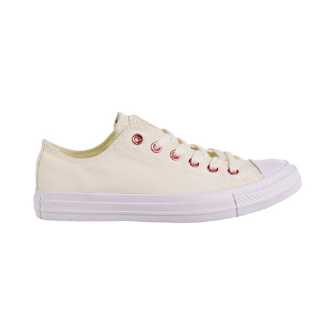new products 333b3 3f645 Converse Chuck Taylor All Star Ox Hearts Unisex Shoes Egret Rhubarb White