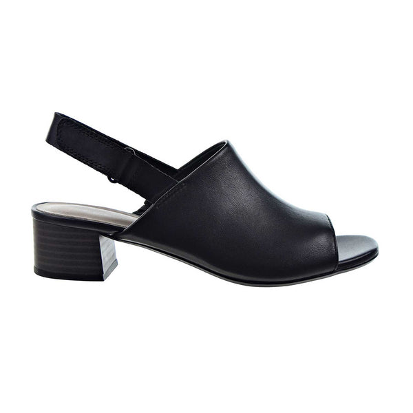 Clarks Elisa Lyndsey Open Toe Heel Women's Sandal Black Leather
