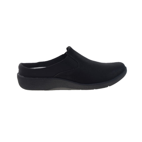 Clarks Sillian Wild Clog (Wide) Women's Shoes Black
