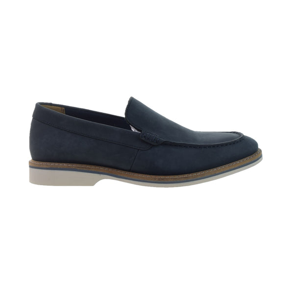 Clarks Atticus Edge Men's Slip-On Loafers Navy Nubuck