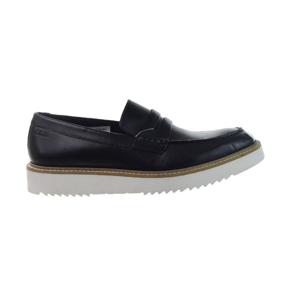 Clarks Ernest Free Men's Slip-On Loafers Black Leather