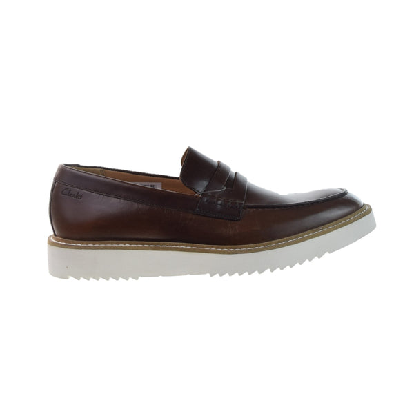 Clarks Ernest Free Men's Slip-On Loafers Dark Tan Leather