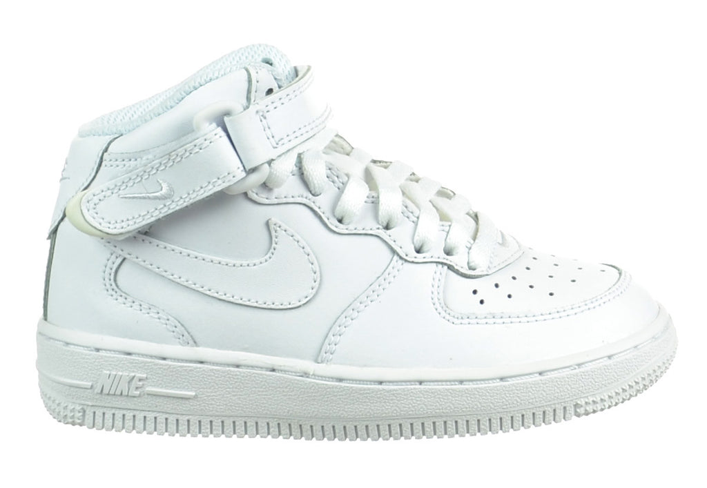 Nike Air Force 1 Mid Little Kid (PS) Shoes White/White