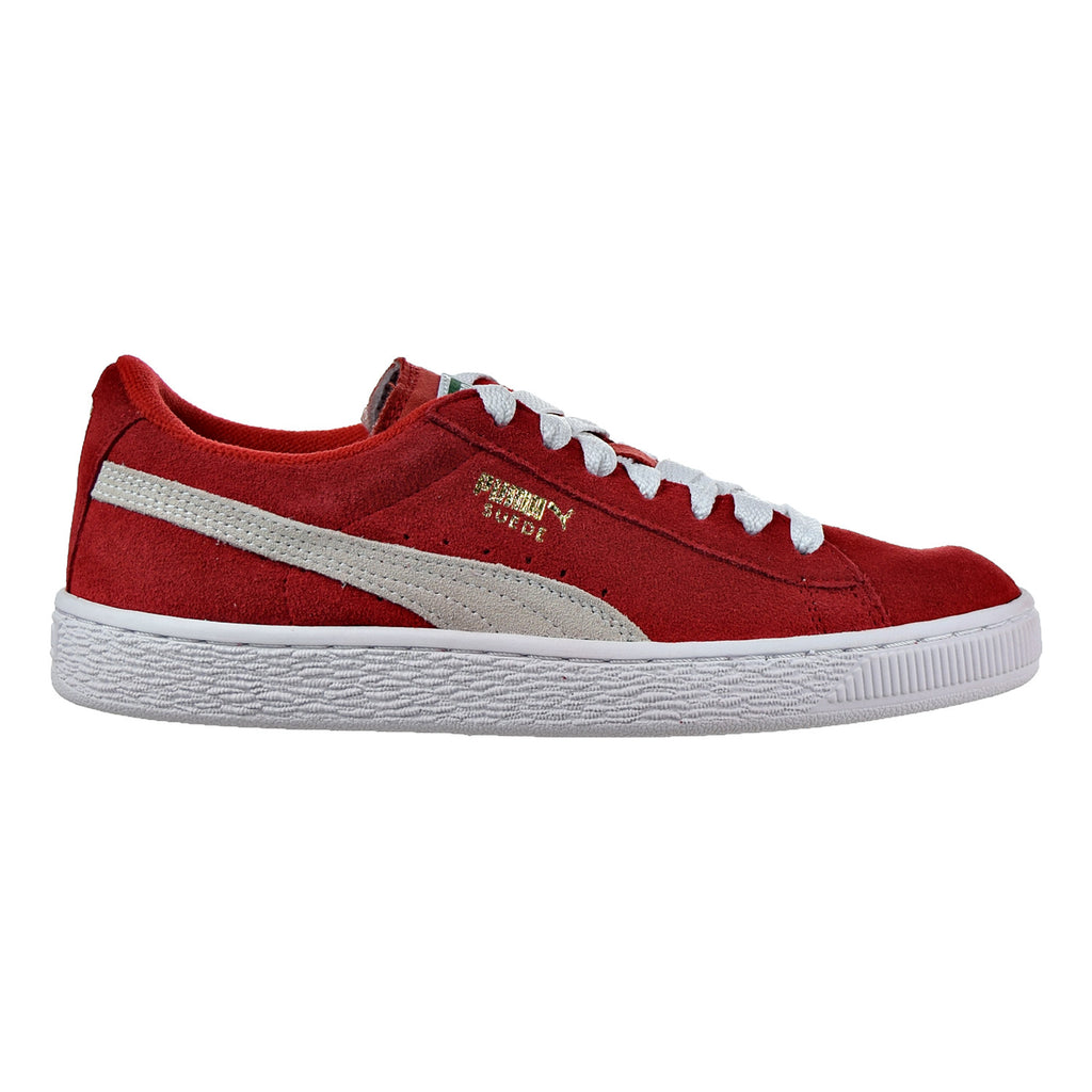 Puma Suede Jr Big Kid's Shoes High Risk Red/White