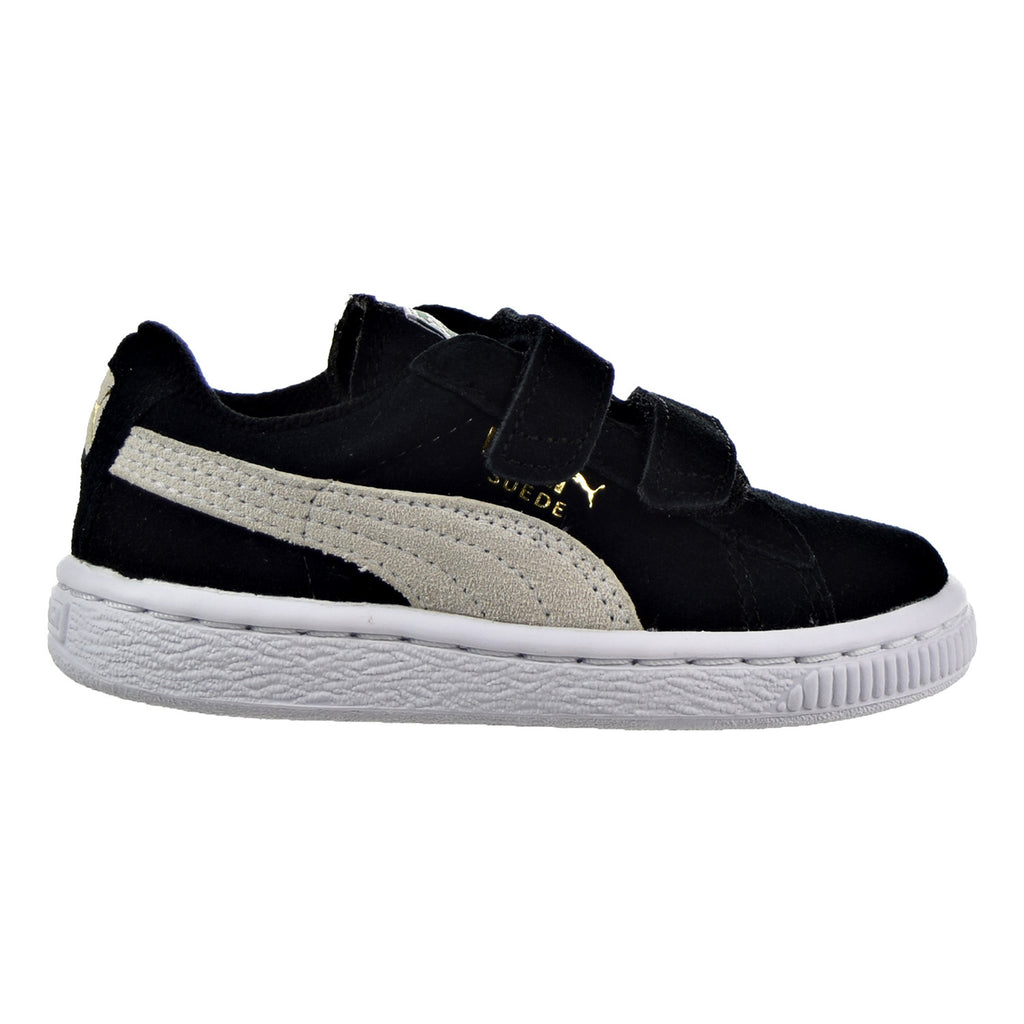 Puma Suede 2 Straps Toddler Shoes Black/White
