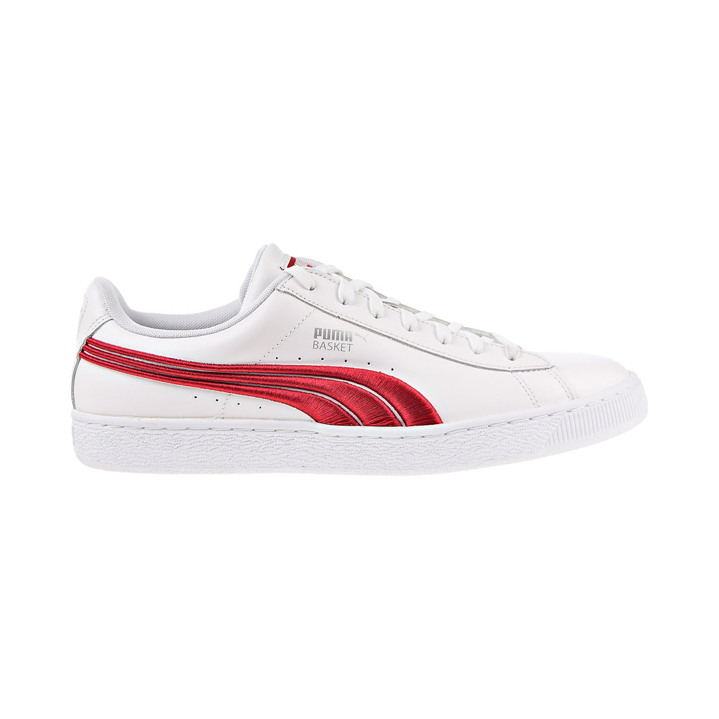 Puma Basket Classic Badge Men's Shoes White-Barbados Cherry