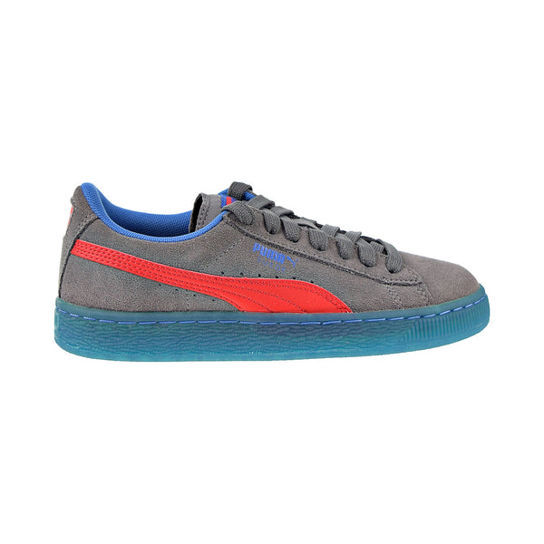 Puma Suede LFS Iced JR Big Kids' Shoes Steel Gray-High Risk Red-Royal