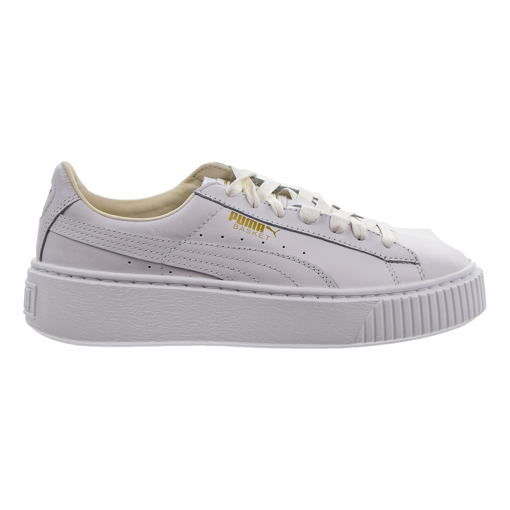Puma Basket Platform Core Women's Shoes Puma White/Gold