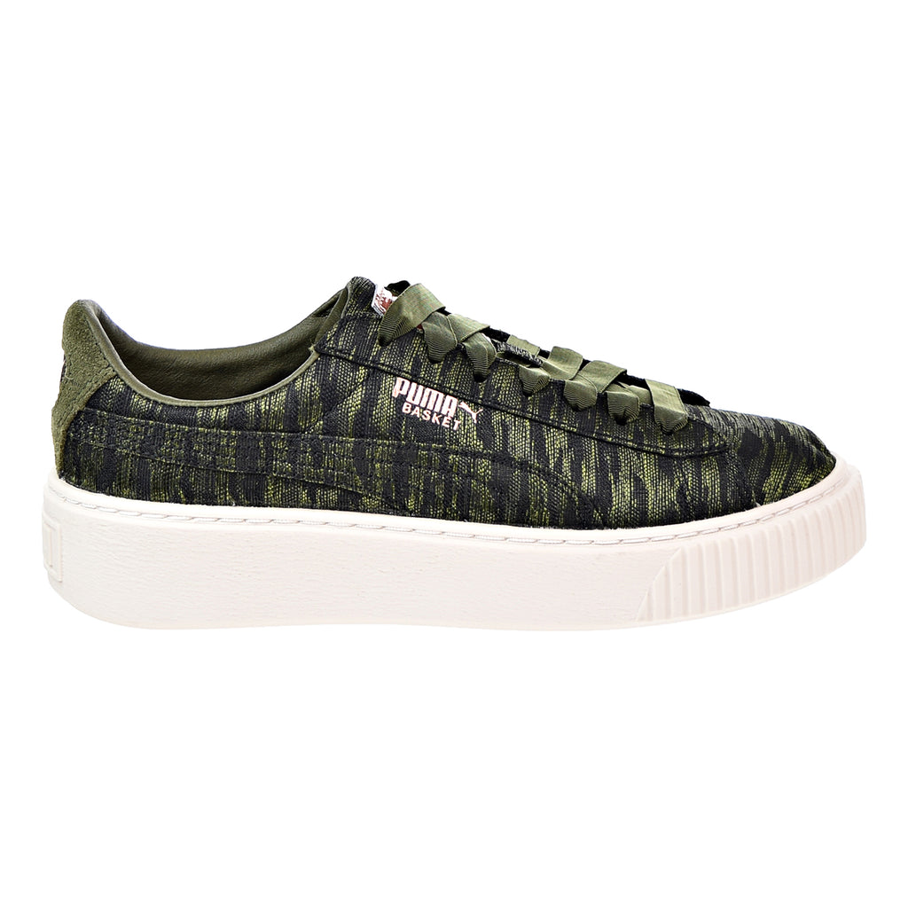 Puma Basket Platform VR Women's Shoes Olive Night