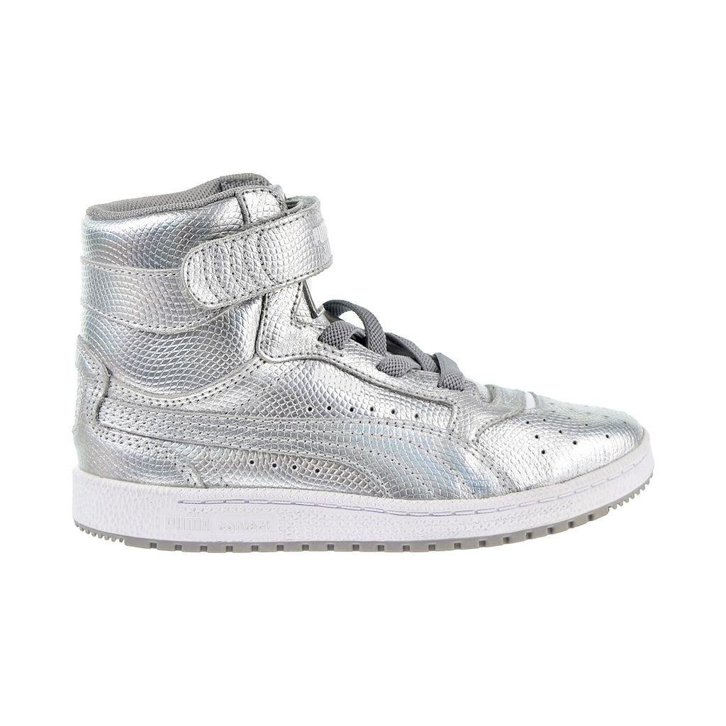 Puma Sky II High Holographic Little Kid's Shoes Silver
