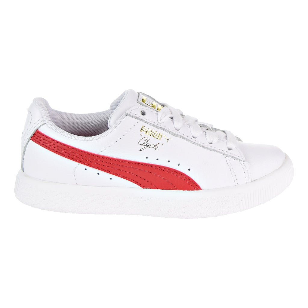 Puma Clyde Core L Foil Little Kid's Shoes White/Cherry