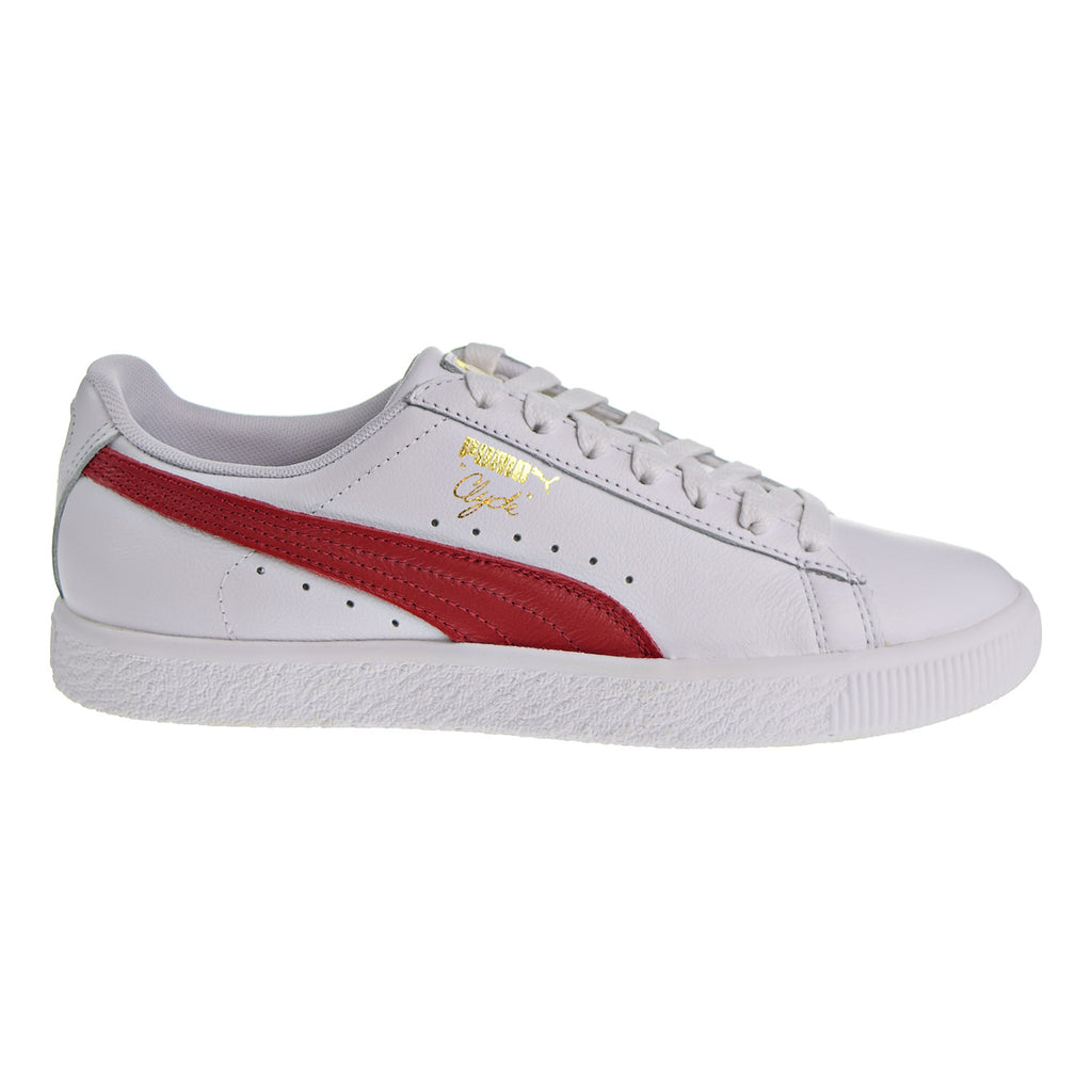 Puma Clyde Core Foil Women's Shoes White/Barbados Cherry/Gold