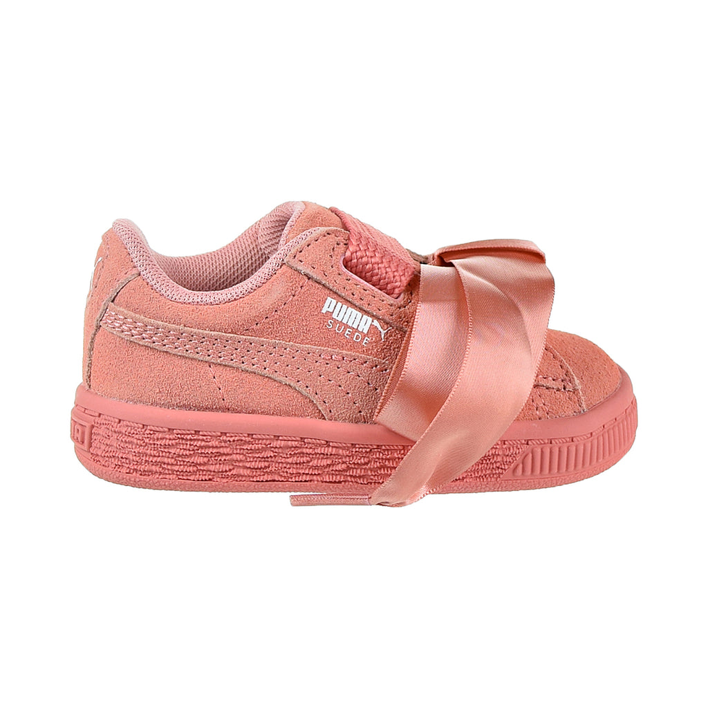 Puma Suede Heart Lifestyle Toddler's Shoes Desert Flower/White