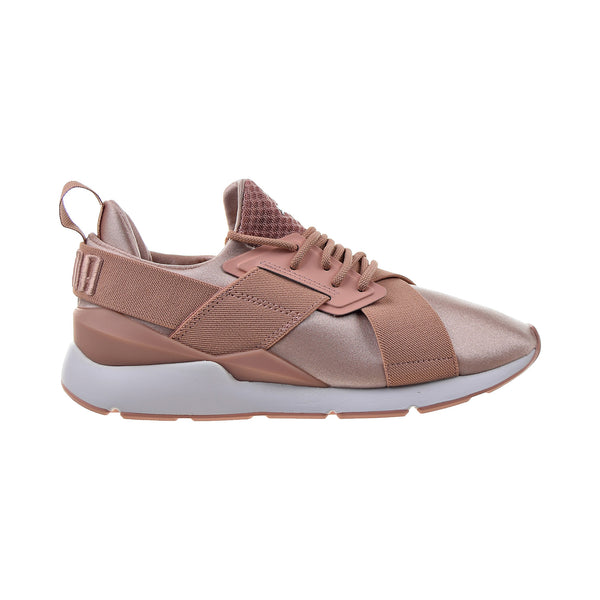 Puma Muse Satin EP Women's Shoes Peach Beige-Puma White