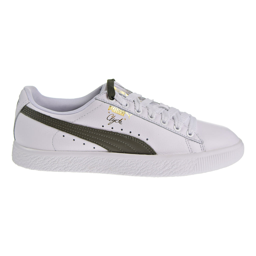 Puma Clyde Core Lace Women's Shoes White/Olive/Gold