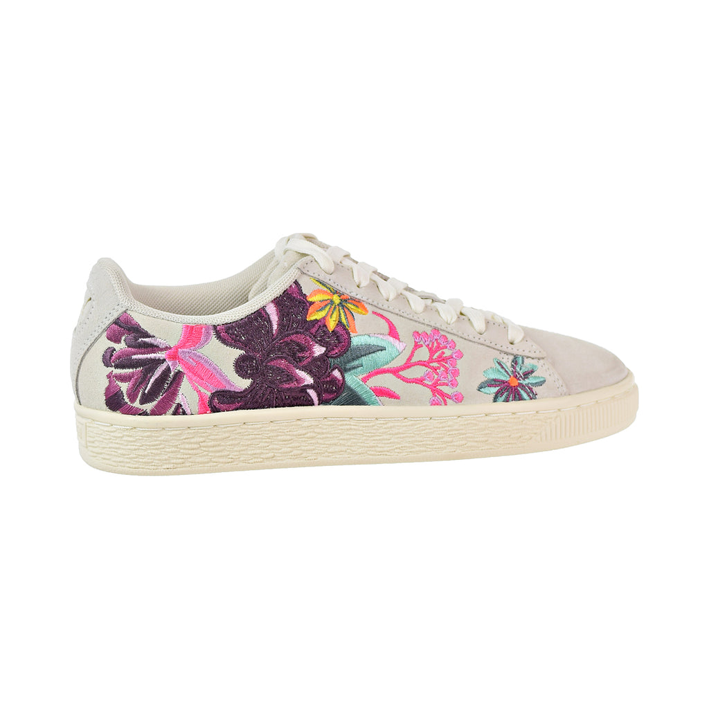 Puma Suede Hyper Emb Women's Shoes Whisper White/Orchid