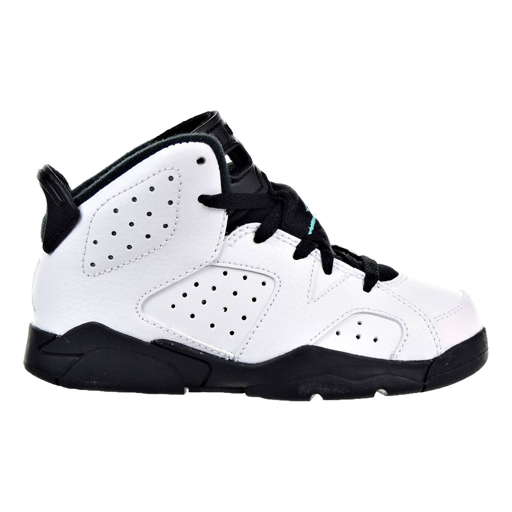 Jordan 6 Retro BP Little Kid's Shoes White/White/Hyper Jade/Black