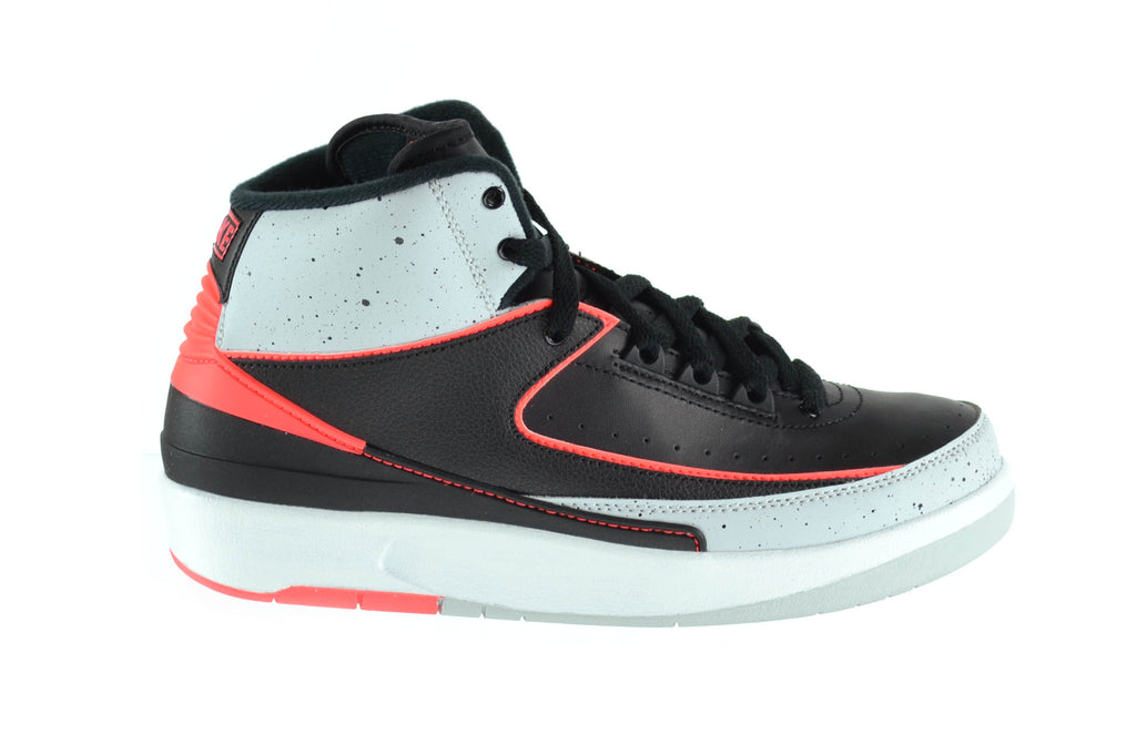 Jordan 2 Retro Big Kids Basketball Shoes Black/Infrared/Pure Platinum/White