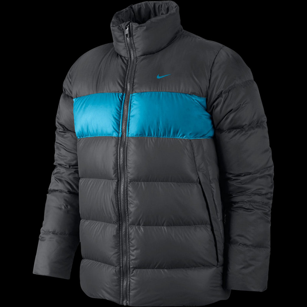 Nike Basic Down Padded Comfort Warm Jacket Anthracite/Blue