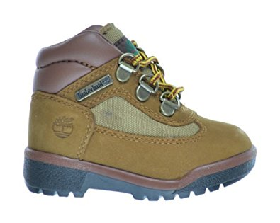 Timberland Baby Toddlers Leather And Fabric Field Boots Sundance Nubuck