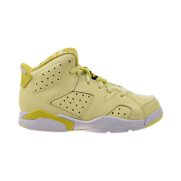 "Air Jordan 6 Retro (PS) ""Floral"" Little Kids' Shoes Citron Tint-Dynamic Yellow"