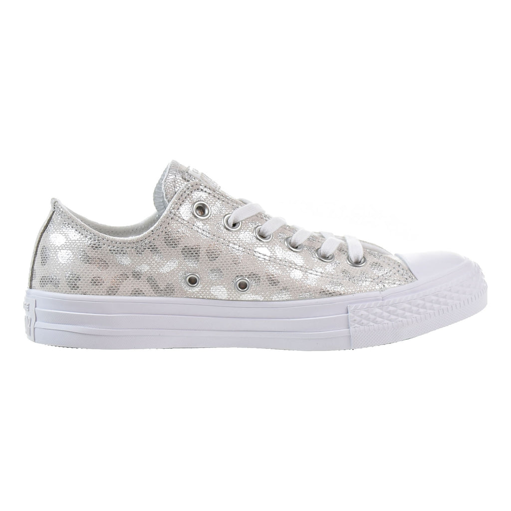 Converse Chuck Taylor All Star OX Women's Low Top Shoes White/Silver