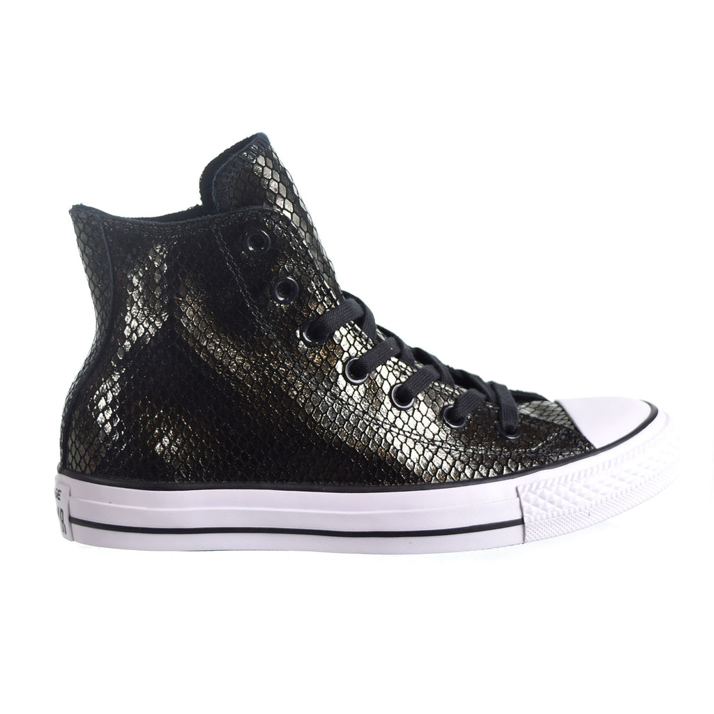 Converse Chuck Taylor All Star HI Women's Shoes  Mettalic Snake Black/White