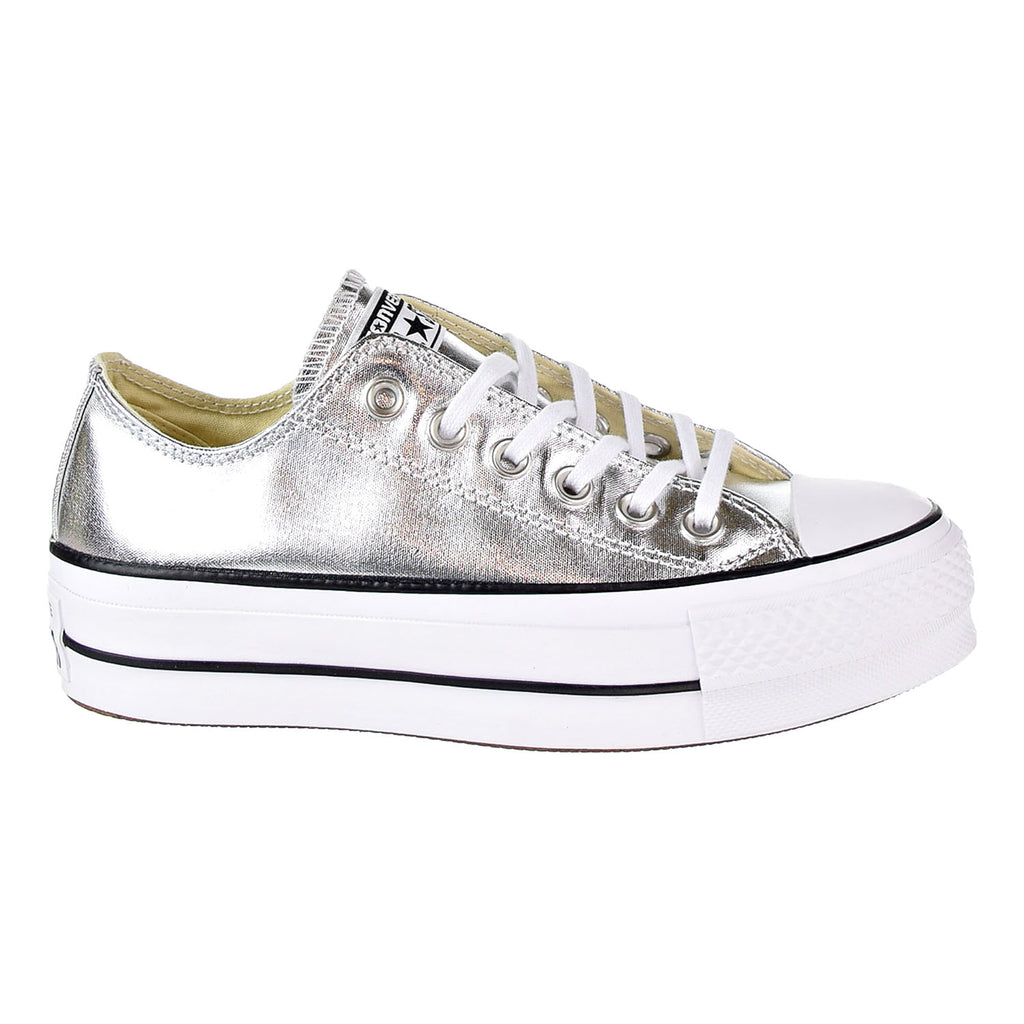 Converse Chuck Taylor All Star lift Ox Women's Shoes Silver/Black/White