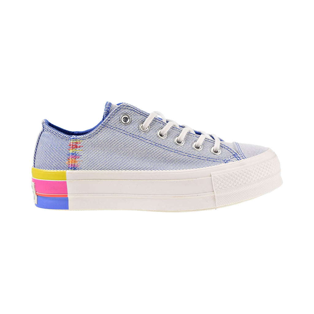 Converse Chuck Taylor All Star Lift Rainbow OX Women's Shoes Blue-White