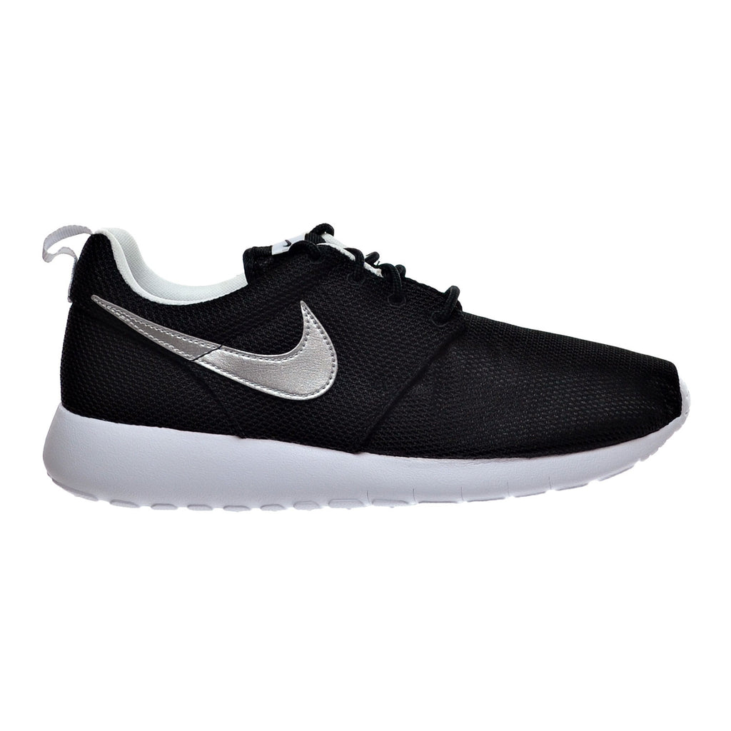 Nike Air Roshe One (GS) Big Kid's Shoes Black/Metallic Silver/White