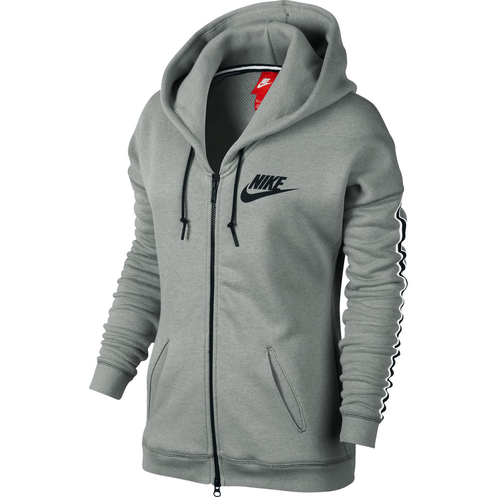 Nike District 72 Full-Zip Women's Hoodie Cool Grey/Black