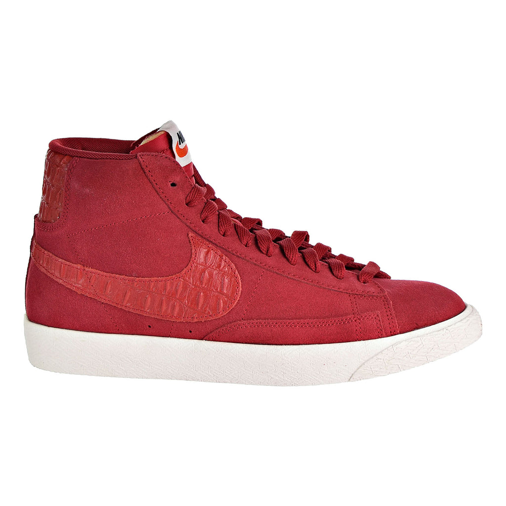 Nike Blazer Mid Premium Vintage Men's Sneakers Shoes Gym Red