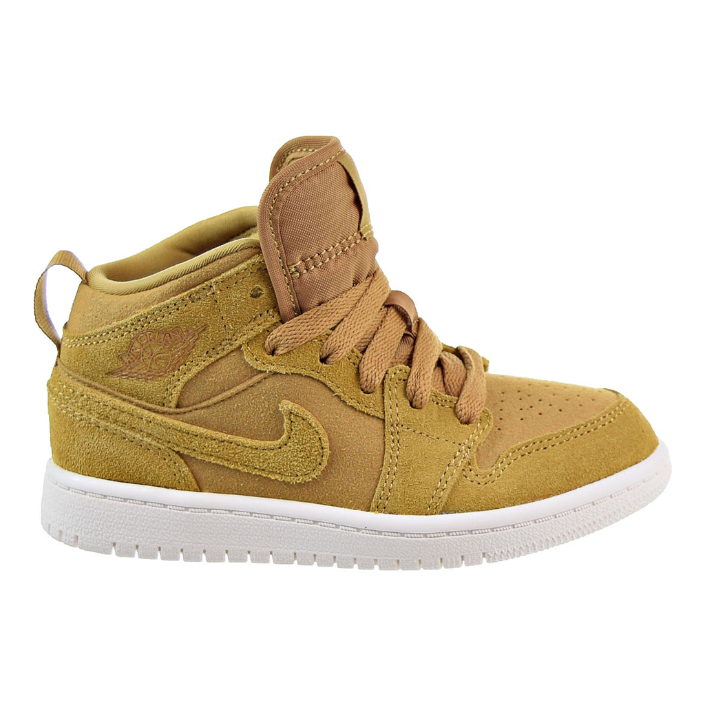 Jordan 1 Mid BP Little Kid's Shoes Golden Harvest/Sail