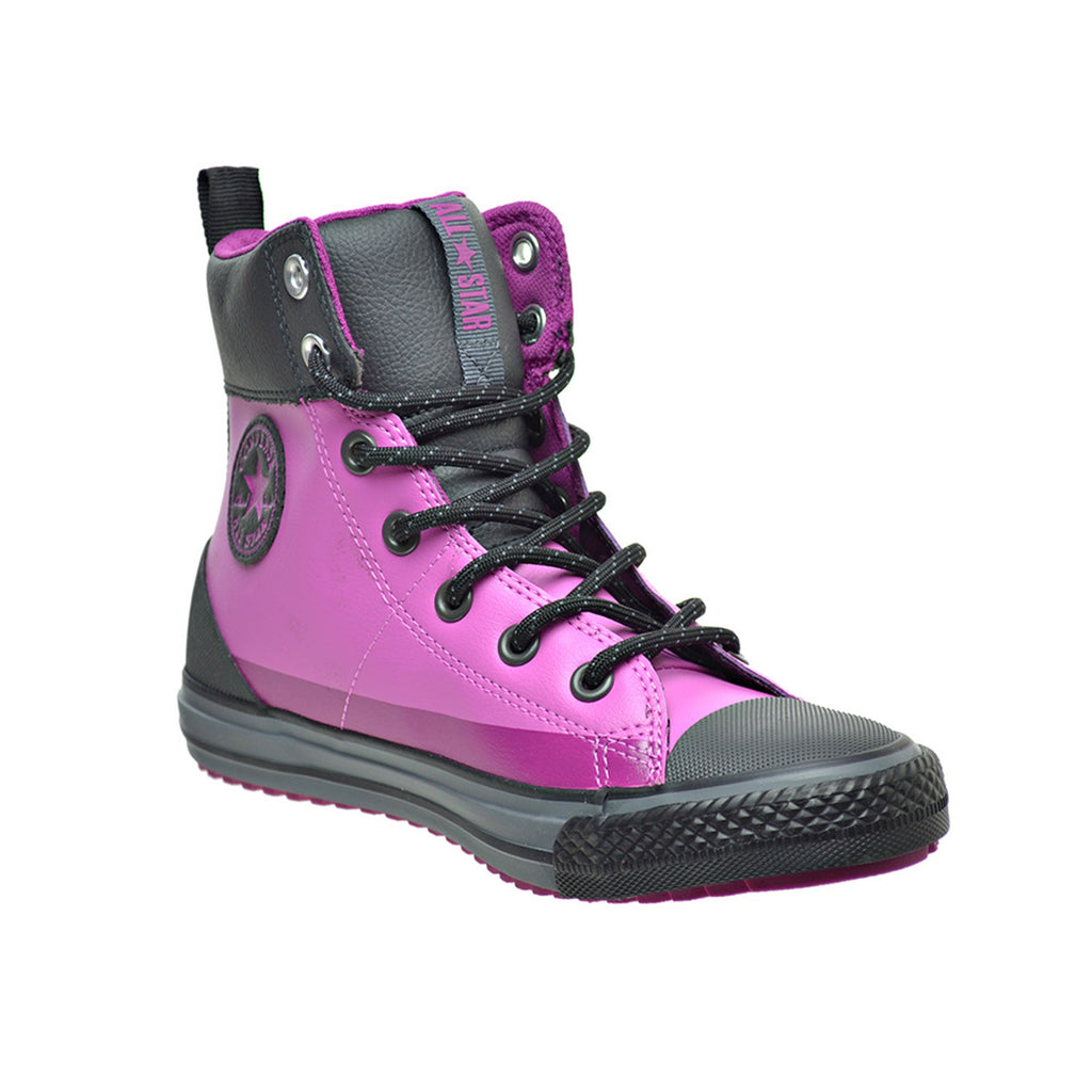 Converse Chuck Taylor Asphalt High Top Little/Big Kid's Boots Dahlia Pink