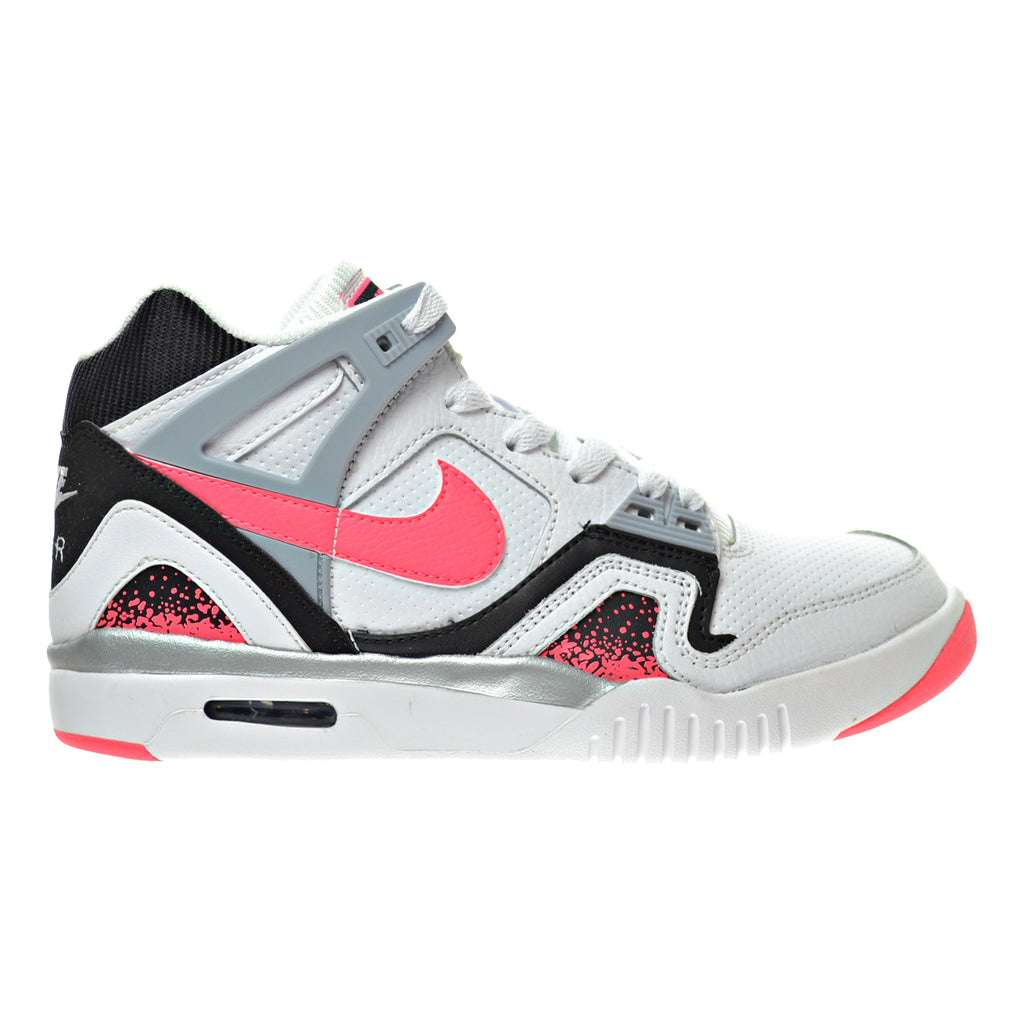 Nike Air Tech Challenge 2 (GS) Big Kid's Shoes White/Hyper Punch/Black/Wolf Grey