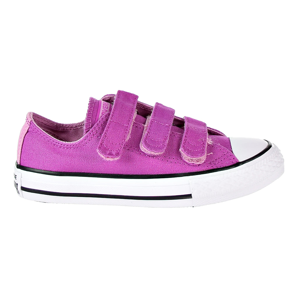 Converse Chuck Taylor All Star 3V OX Big Kid's Shoes Hyper Magenta/Light Orchid