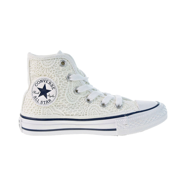 Canverse Chuck Taylor All Star Hi Little Kids' Shoes White-Garnett Blue
