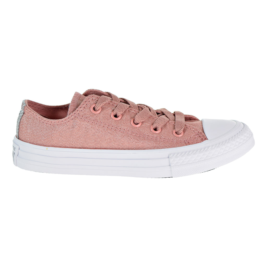 Converse Chuck Taylor All Star Ox Little/Big Kids' Shoes Rust Pink /White/Silver