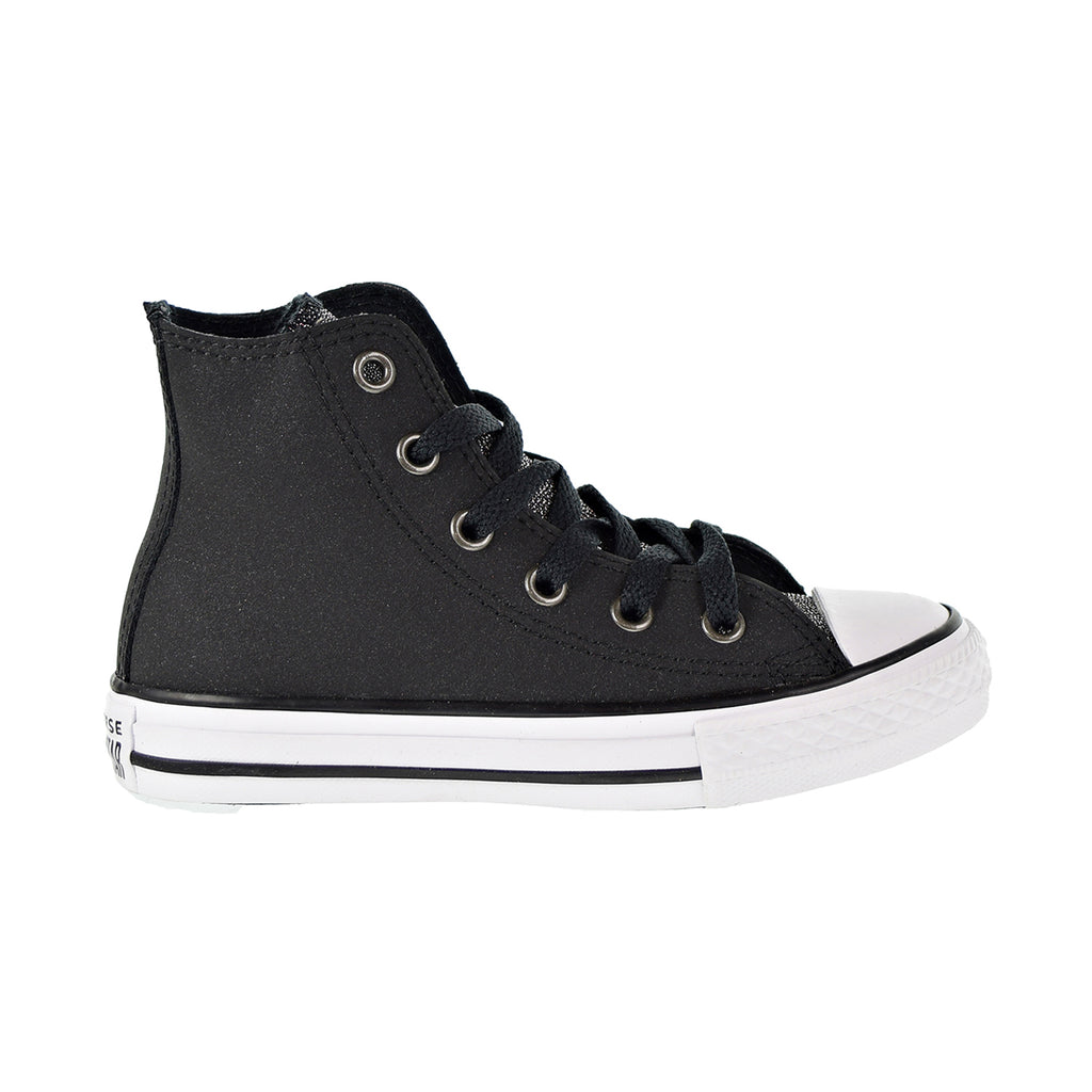 Converse Chuck Taylor All Star Hi Preschool Shoes Black/Black/White