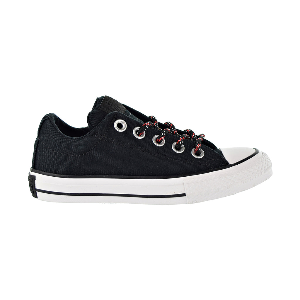 Converse Chuck Taylor All Star Street Slip Kids Shoes Black/Enamel Red/White