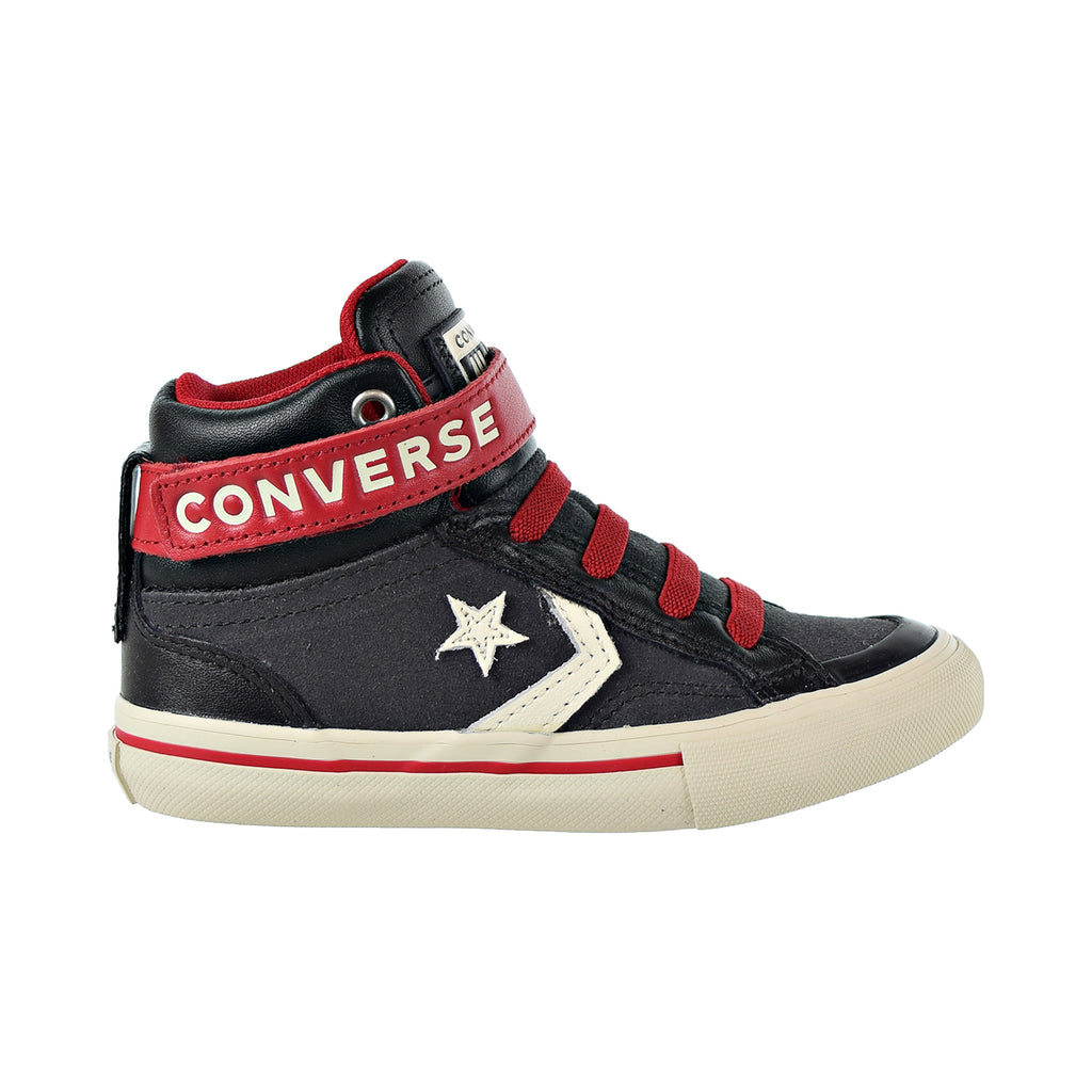 Converse Pro Blaze Strap Hi Kids Shoes Almost Black/Egret/Turtle Dove