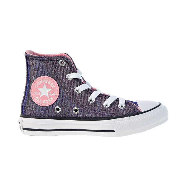 Converse Chuck Taylor All Star Hi Little Kids' Shoes Coastal Pink-Silver White