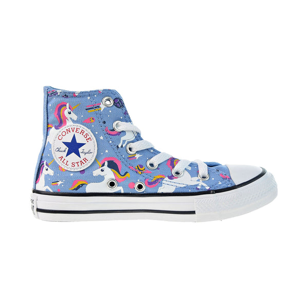 Converse Chuck Taylor All Star Hi Little Kids' Shoes Light Blue-White