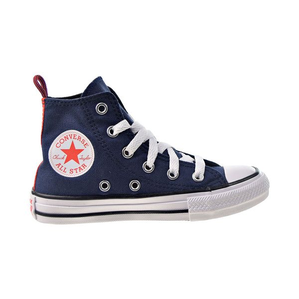 Converse Chuck Taylor All Star Hi Kids' Shoes Midnight Navy-Bright Orange