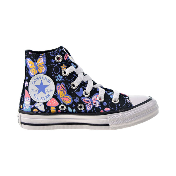 Converse Chuck Taylor All Star Hi Kids' Shoes Black-Bleached Cyan