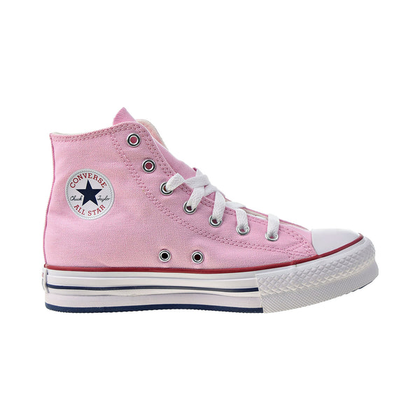 Converse Chuck Taylor All Star EVA Lift Hi Kids' Platform Shoes Pink Glaze-White