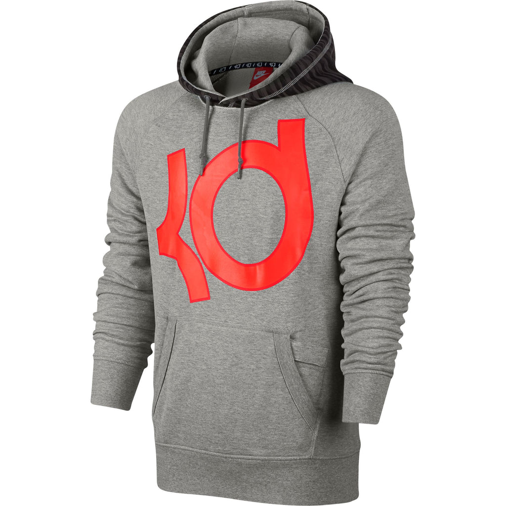 Nike AW77 KD Pullover Men's Hoodie Grey/Orange/Red