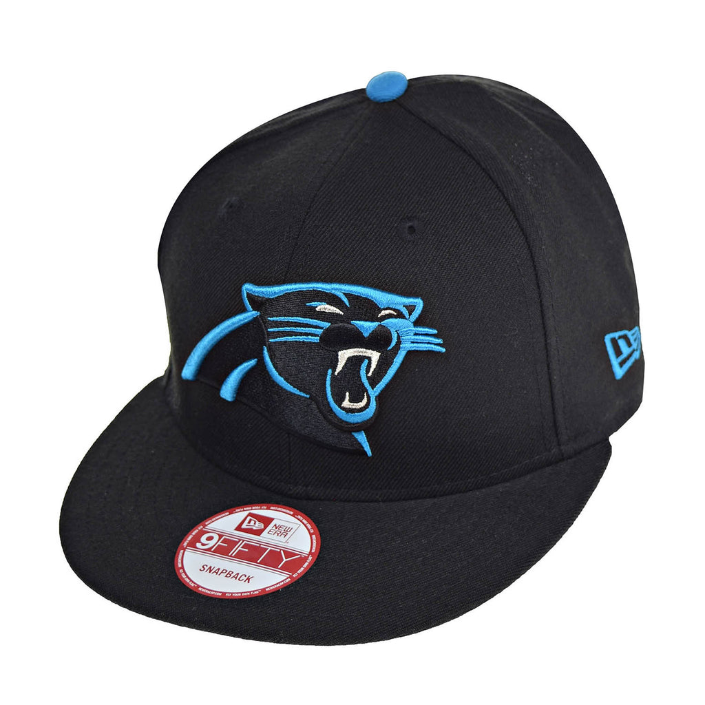 ea16e0ec1 New Era Carolina Panthers NFL 9Fifty Men's Snapback Hat Cap Black/Blue –  rbdoutlet